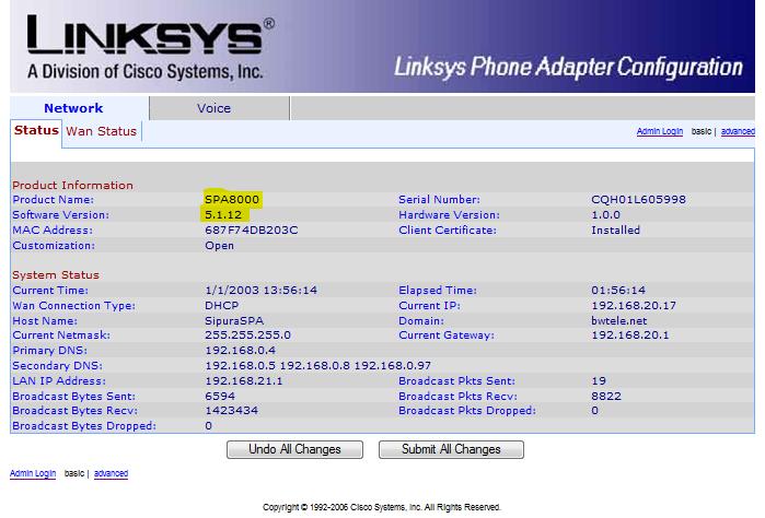 Linksys Spa8000 прошивка скачать - фото 8
